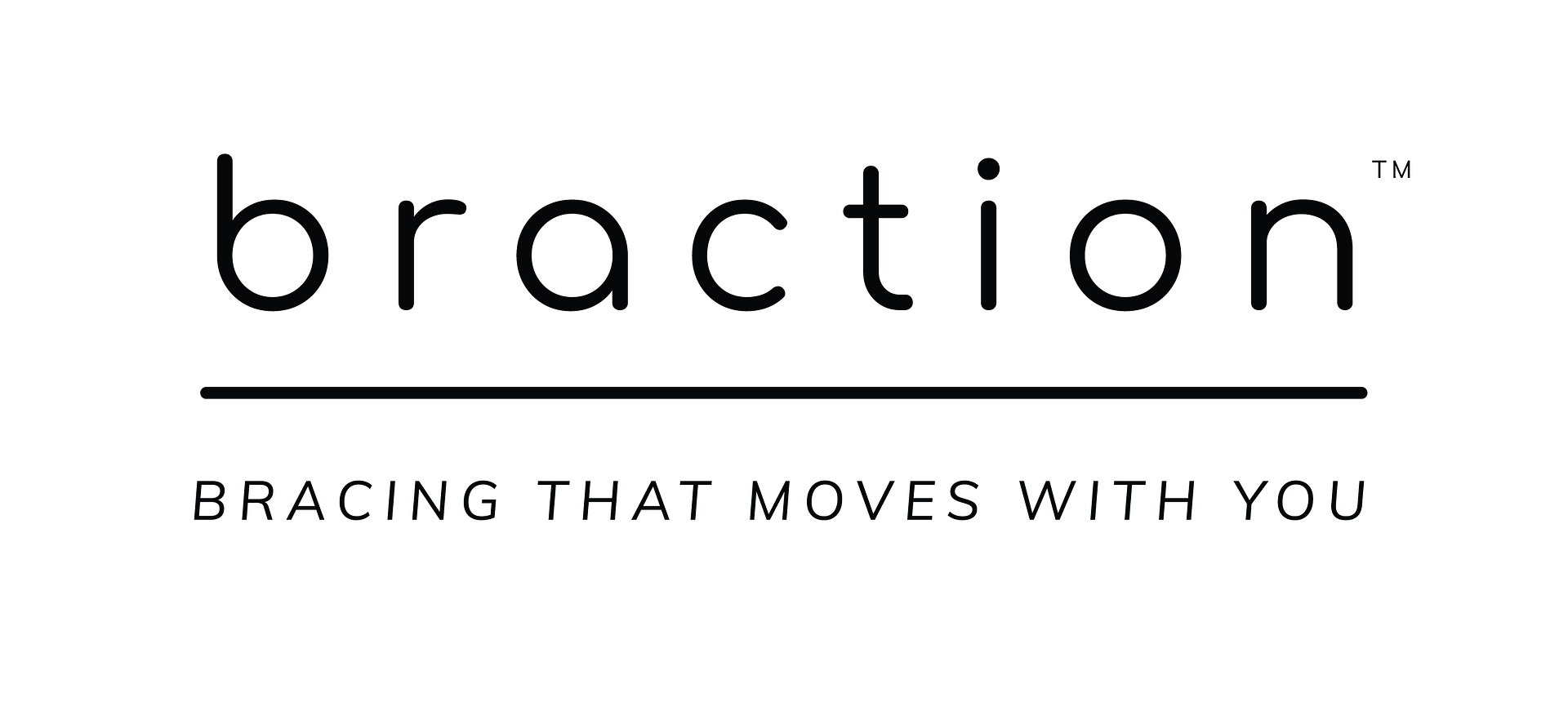 Braction Logo Tm Cmyk Black Horizontal Name + Tagline