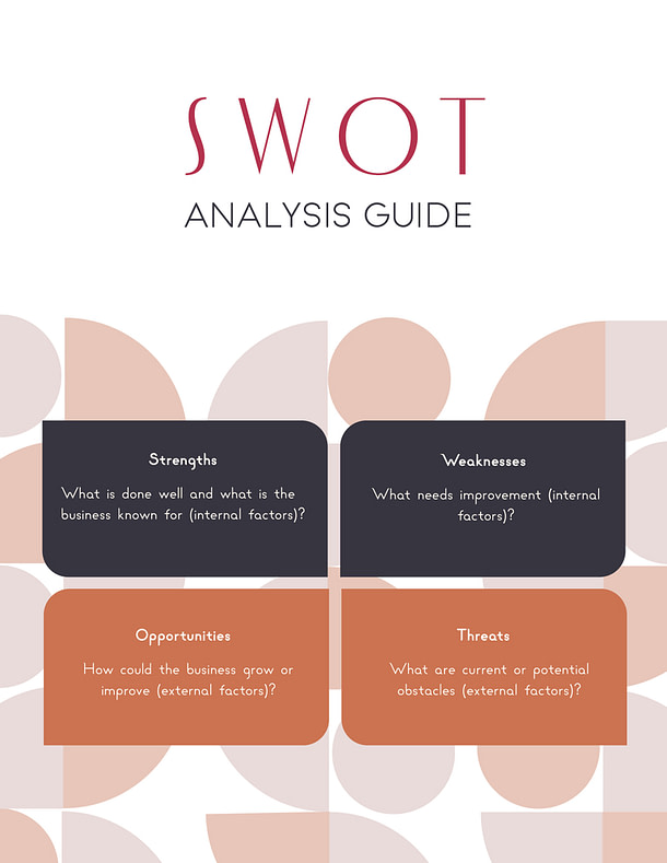 Benu Creative Branding And Marketing SWOT Analysis Guide Cover